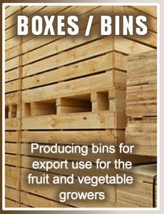pine boxes for exporting fruit and vegetables